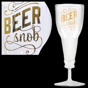Beer Snob Wine Glass Made With Real Gold New